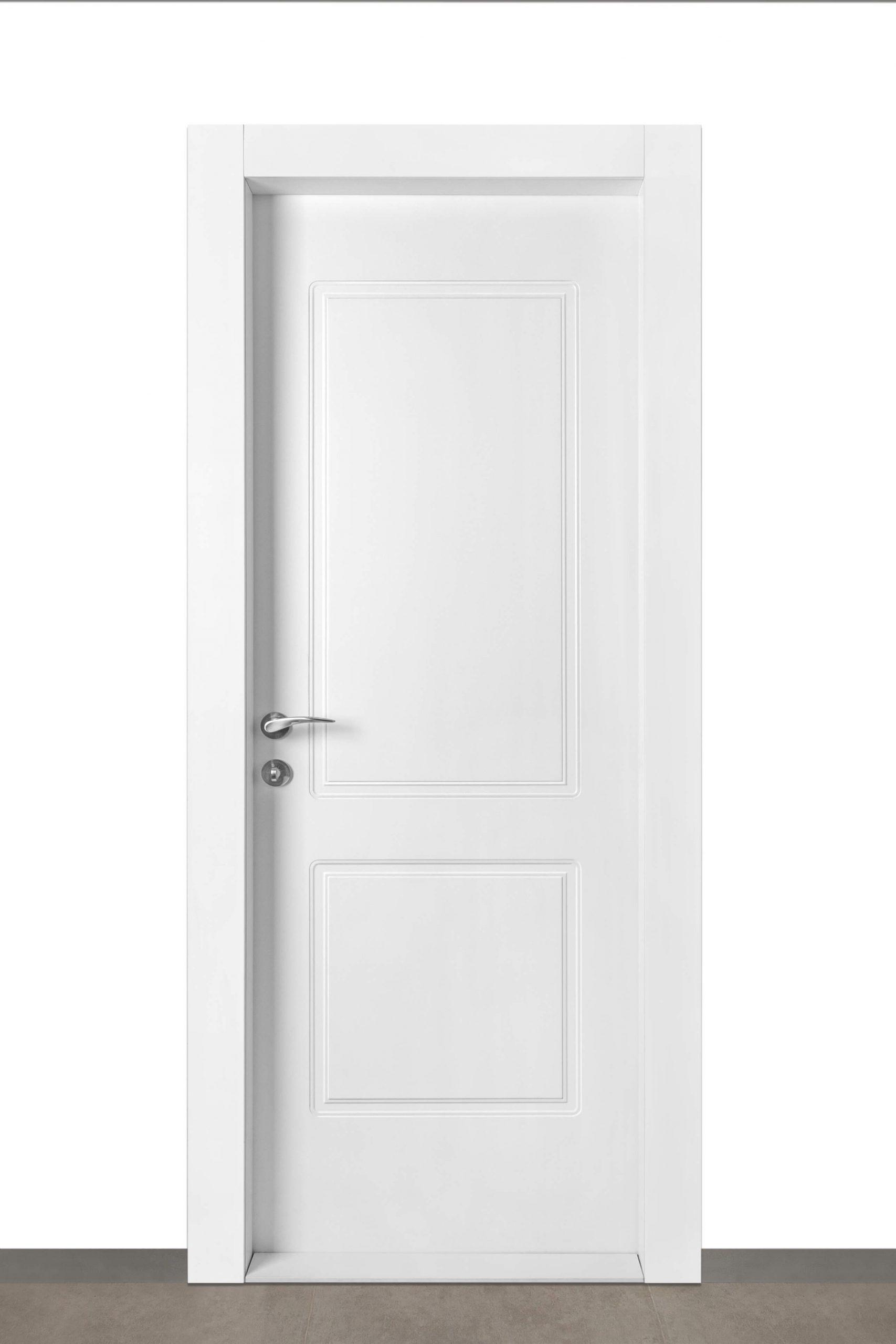 דלת רומי בצבע לבן wpc