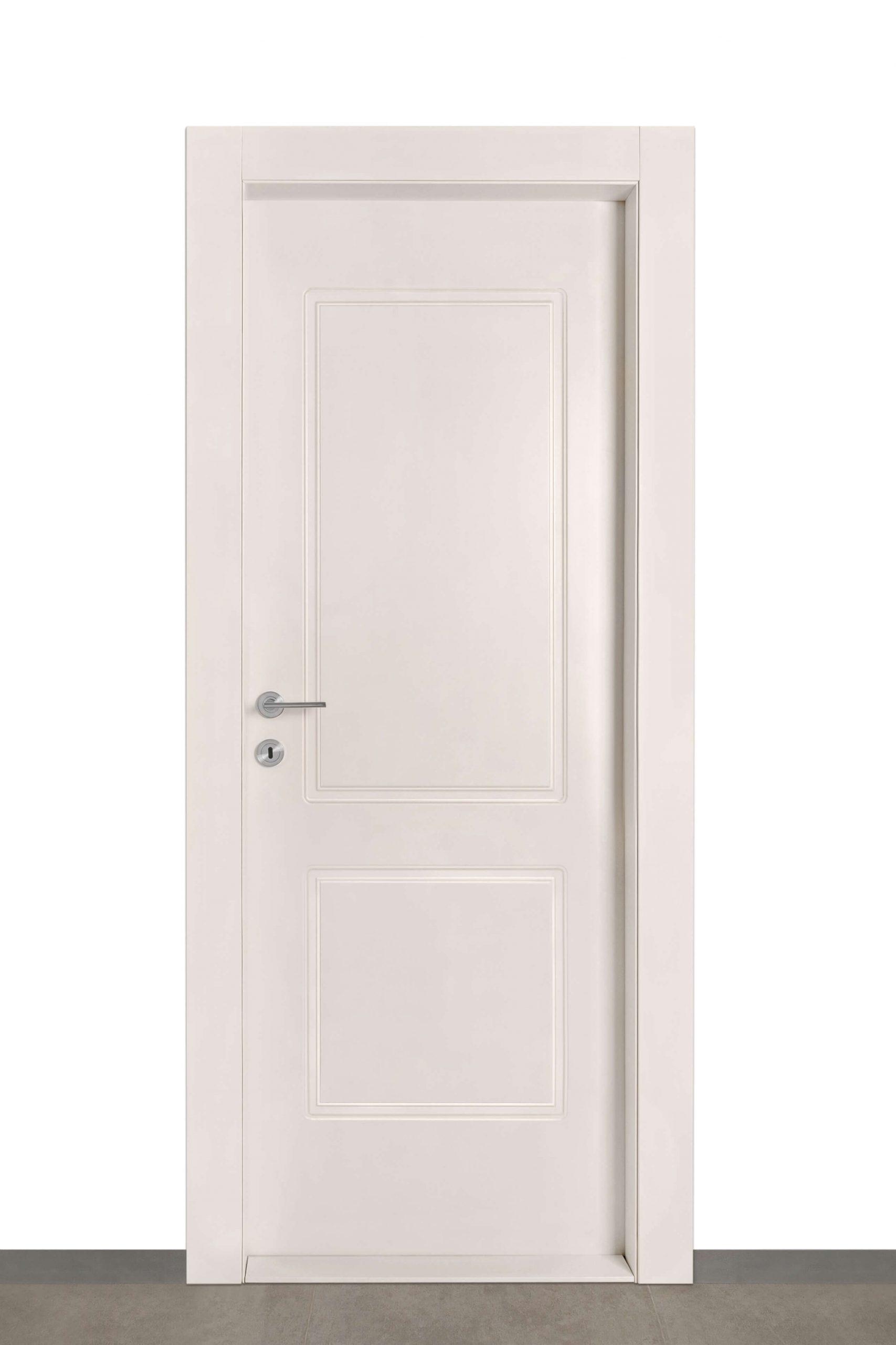 דלת רומי בצבע שמנת wpc